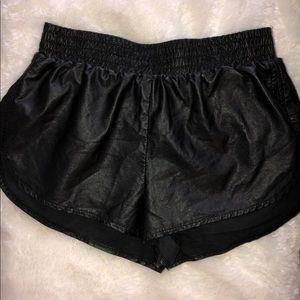 Black Leather Shorts Forever 21